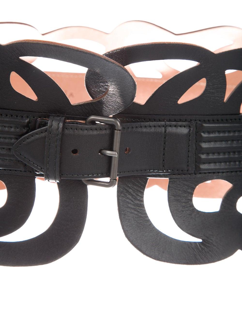 Alaïa Leather Waist Belt Black - image 2