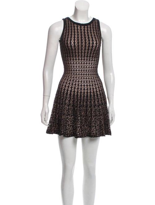 Alaïa Lace Mini Dress Black - image 1