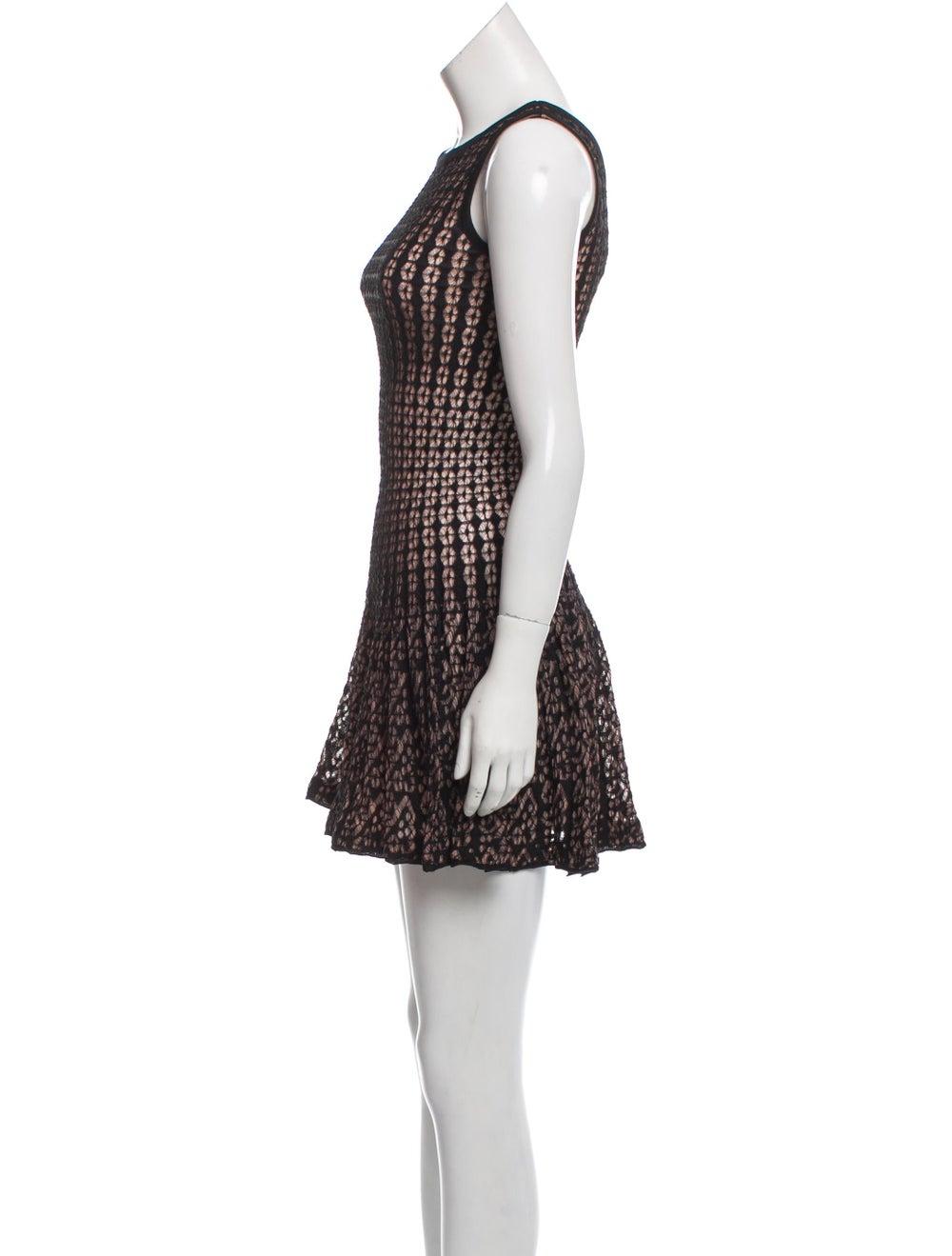 Alaïa Lace Mini Dress Black - image 2