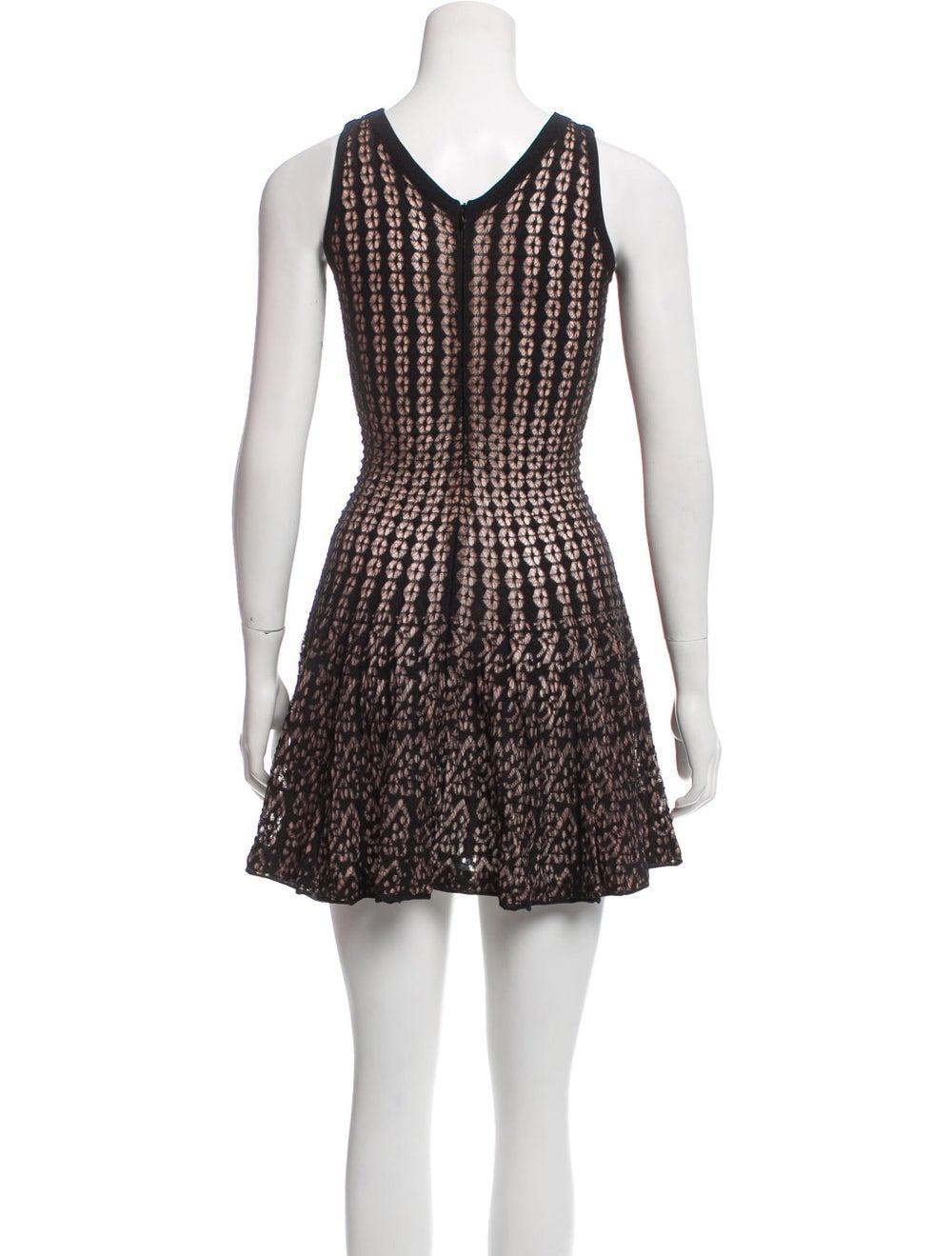 Alaïa Lace Mini Dress Black - image 3