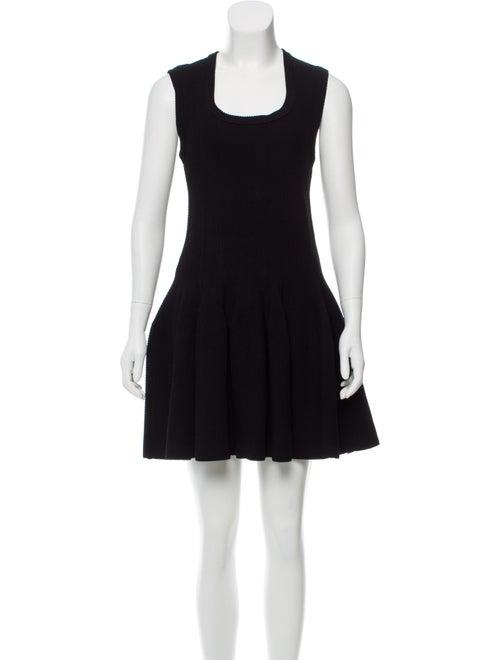 Alaïa Fit And Flare Sleeveless Dress Black