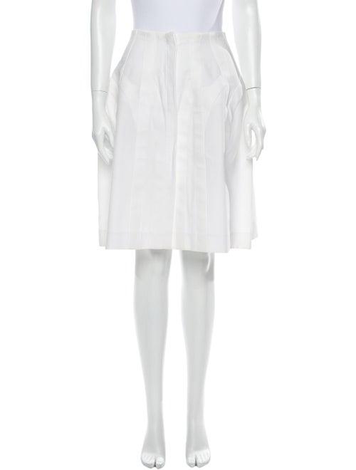 Alaïa Knee-Length Skirt White