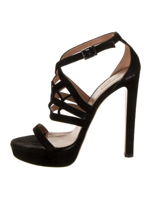 Alaïa Suede Sandals Black