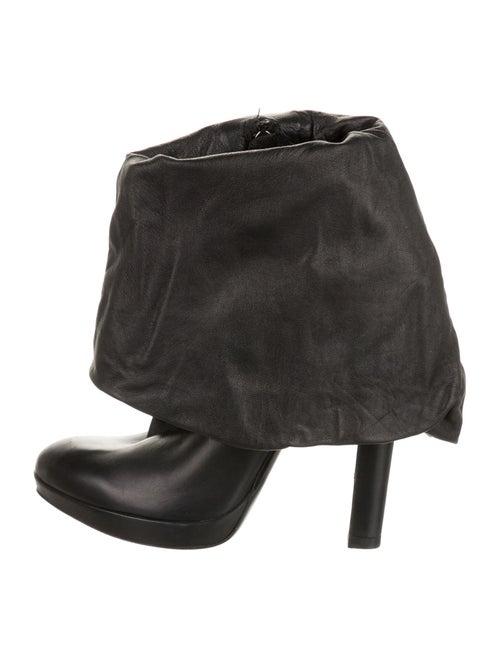 Alaïa Leather Boots Black