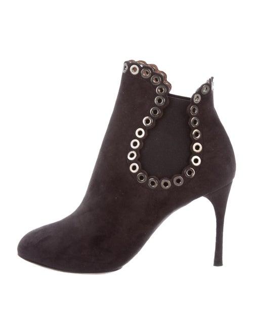 Alaïa Suede Boots Grey