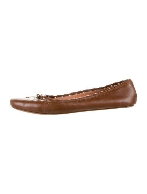Alaïa Leather Ballet Flats Brown