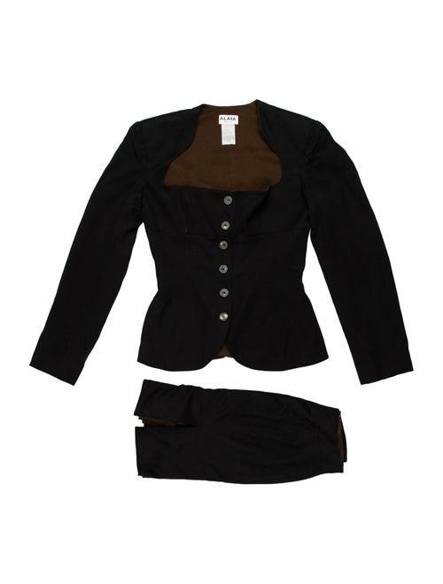 Alaïa Vintage Skirt Suit Black