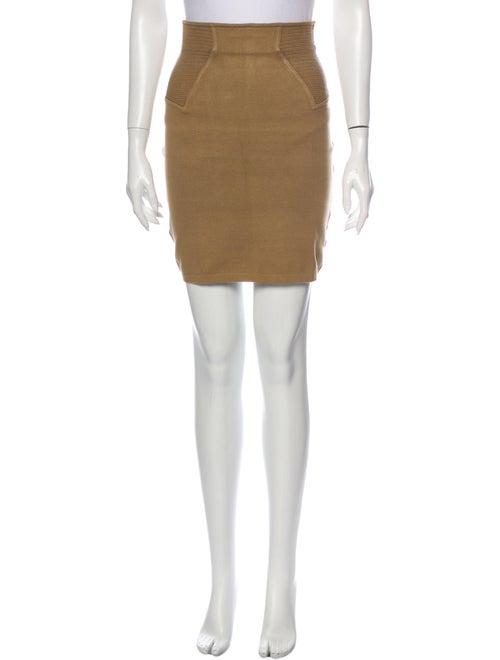 Alaïa Mini Skirt Brown