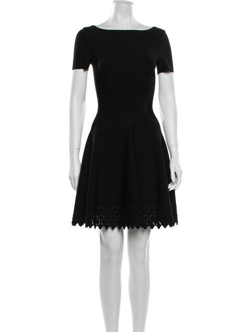 Alaïa Scoop Neck Mini Dress Black