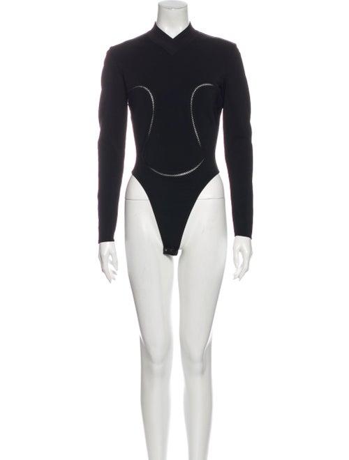 Alaïa Vintage Mock Neck Bodysuit Black