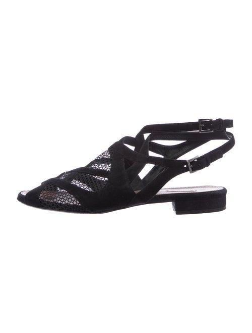 Alaïa Suede Gladiator Sandals Black