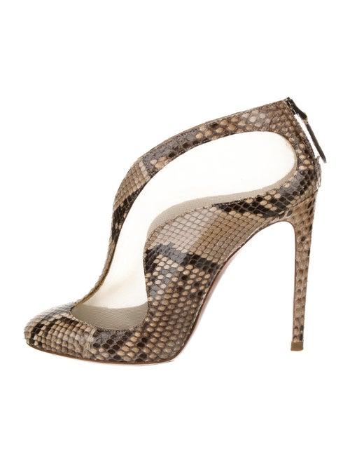 Alaïa Snakeskin Animal Print Boots