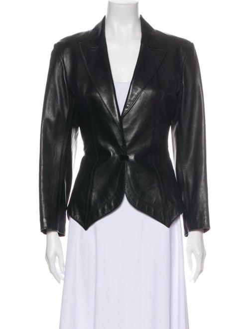 Alaïa Leather Blazer Black