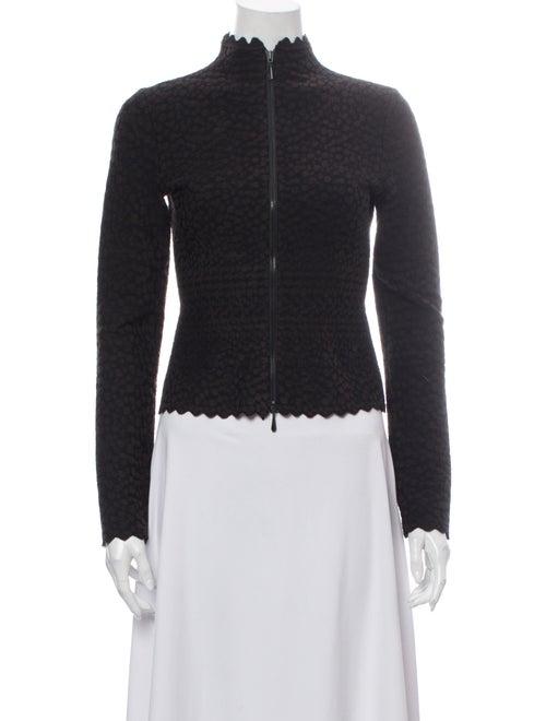 Alaïa Mock Neck Sweater Brown