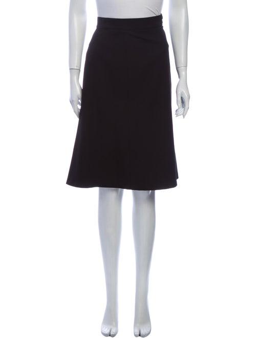 Alaïa Wool Knee-Length Skirt Wool