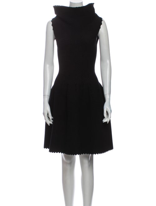 Alaïa Turtleneck Mini Dress Black
