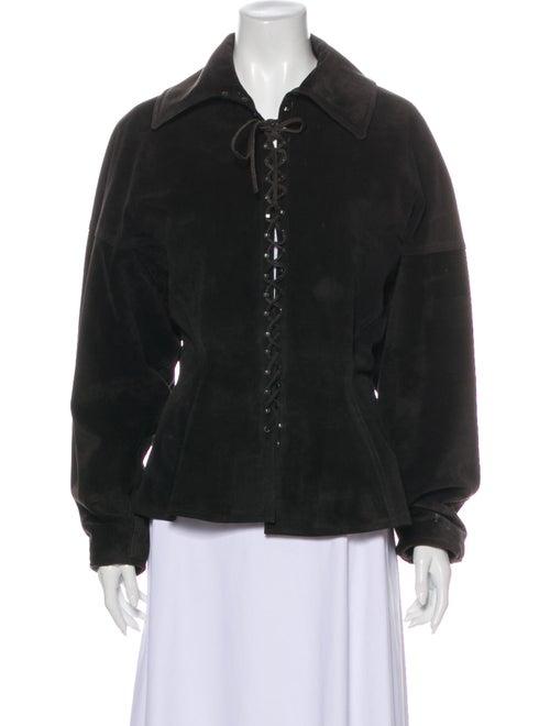 Alaïa Vintage 1980's Bomber Jacket Black