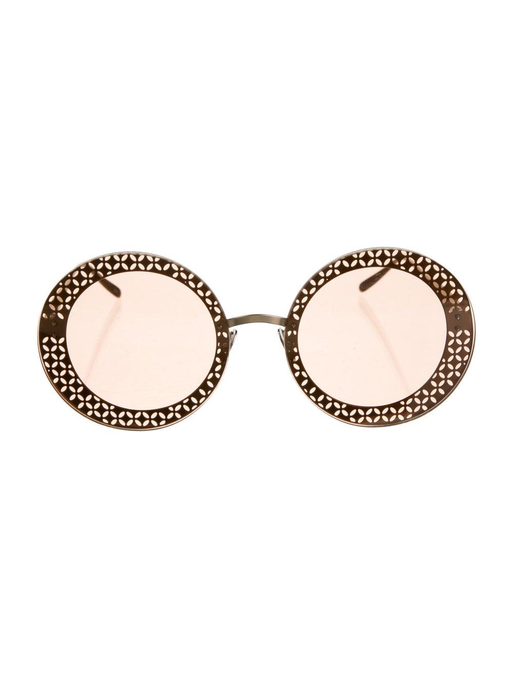 Alaïa Round Tinted Sunglasses - image 1