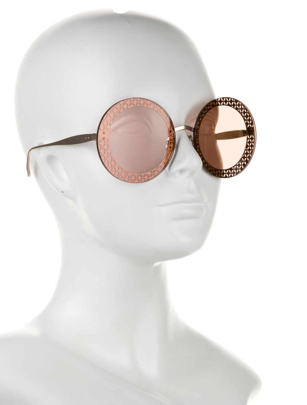 Alaïa Round Tinted Sunglasses - image 4