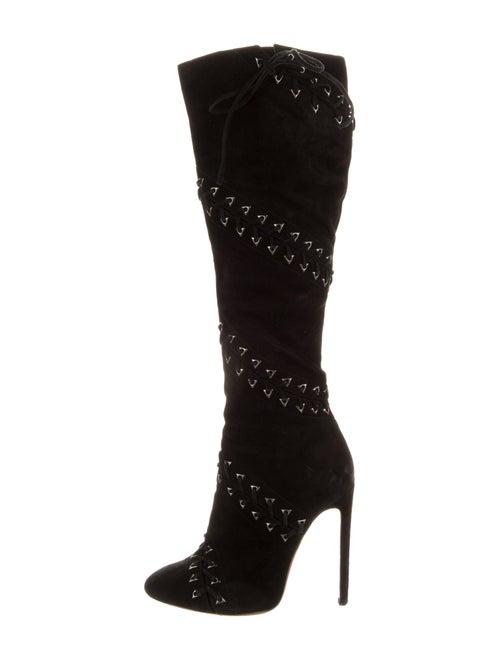 Alaïa Suede Boots Black