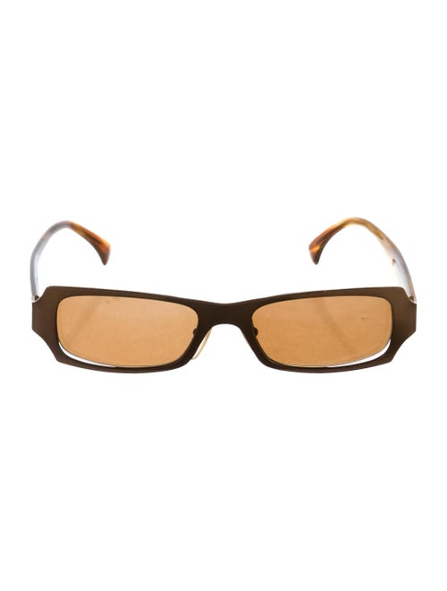 Alain Mikli Tinted Narrow Sunglasses Brown - image 1
