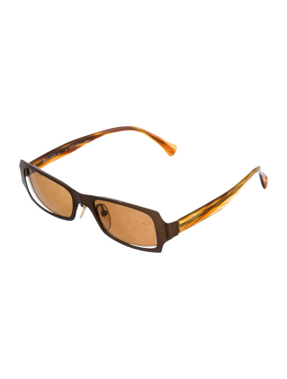 Alain Mikli Tinted Narrow Sunglasses Brown - image 2
