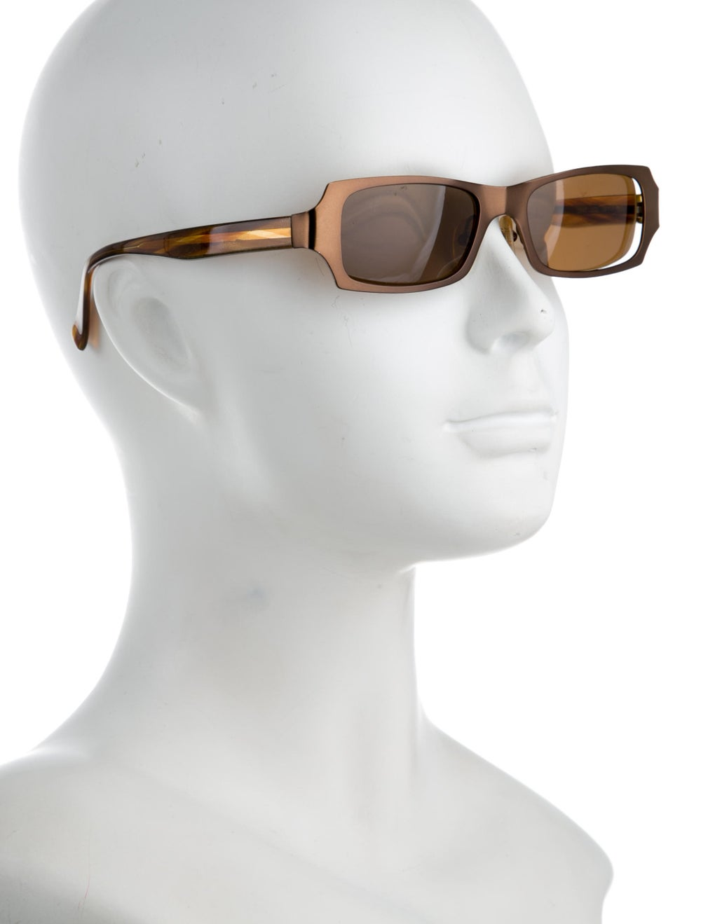 Alain Mikli Tinted Narrow Sunglasses Brown - image 4