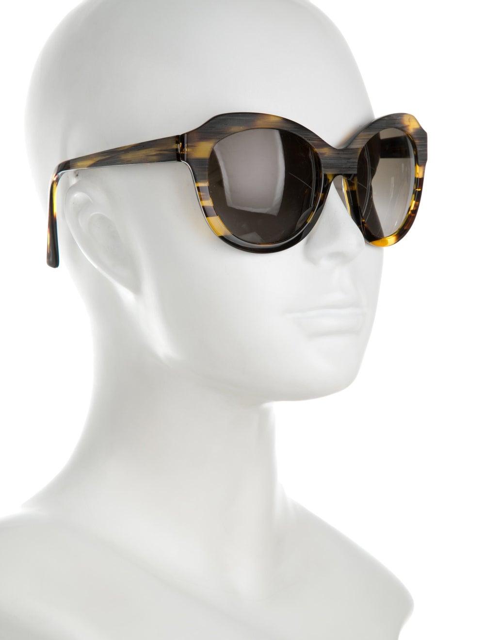 Alain Mikli Tortoiseshell Oversize Sunglasses - image 4