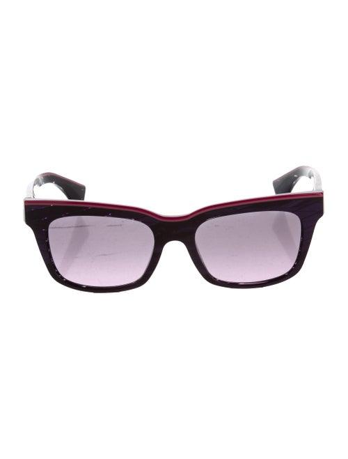 Alain Mikli Square Tinted Sunglasses Purple - image 1