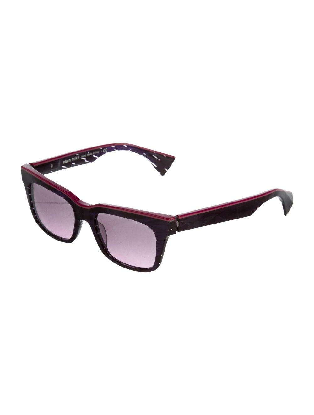 Alain Mikli Square Tinted Sunglasses Purple - image 2