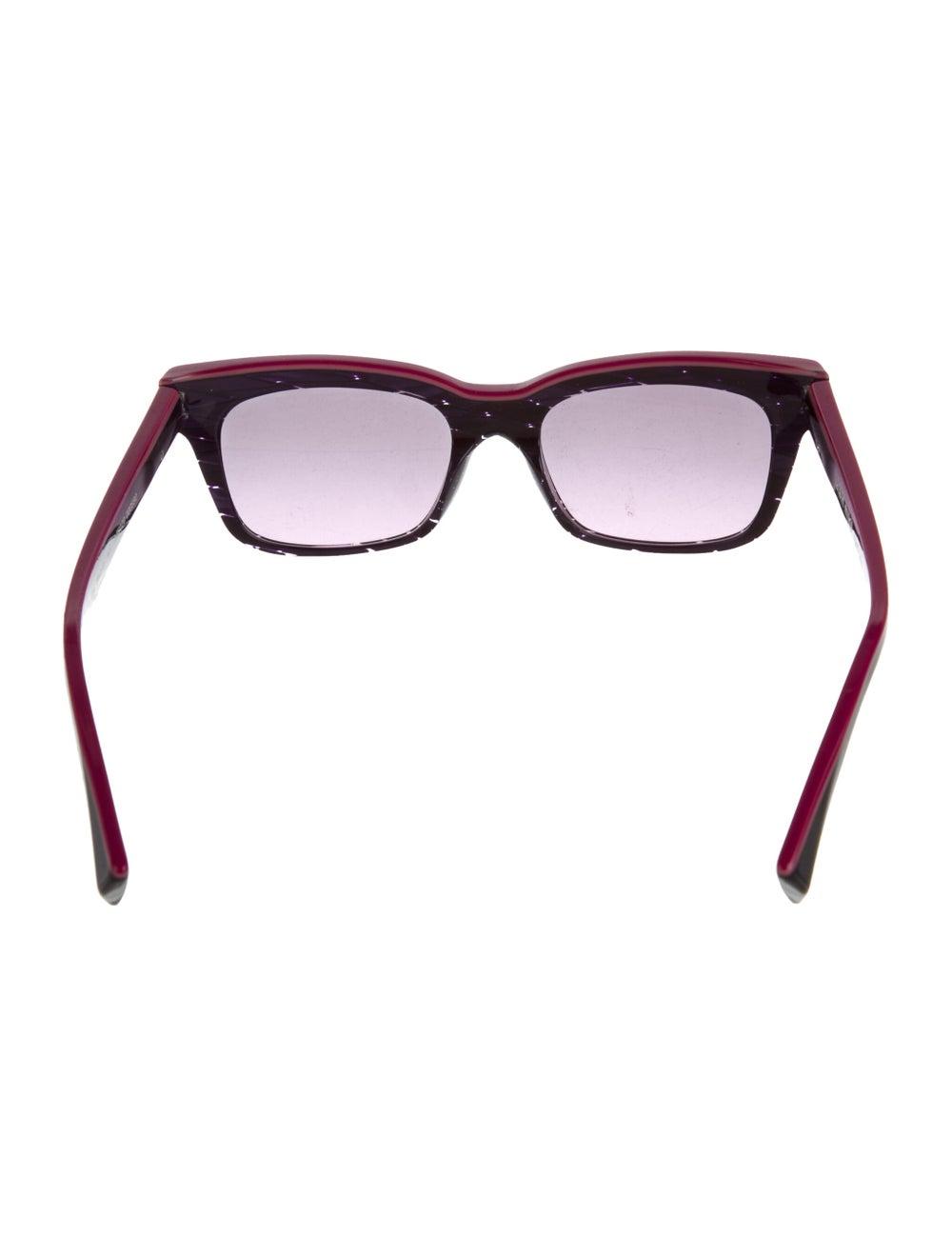 Alain Mikli Square Tinted Sunglasses Purple - image 3