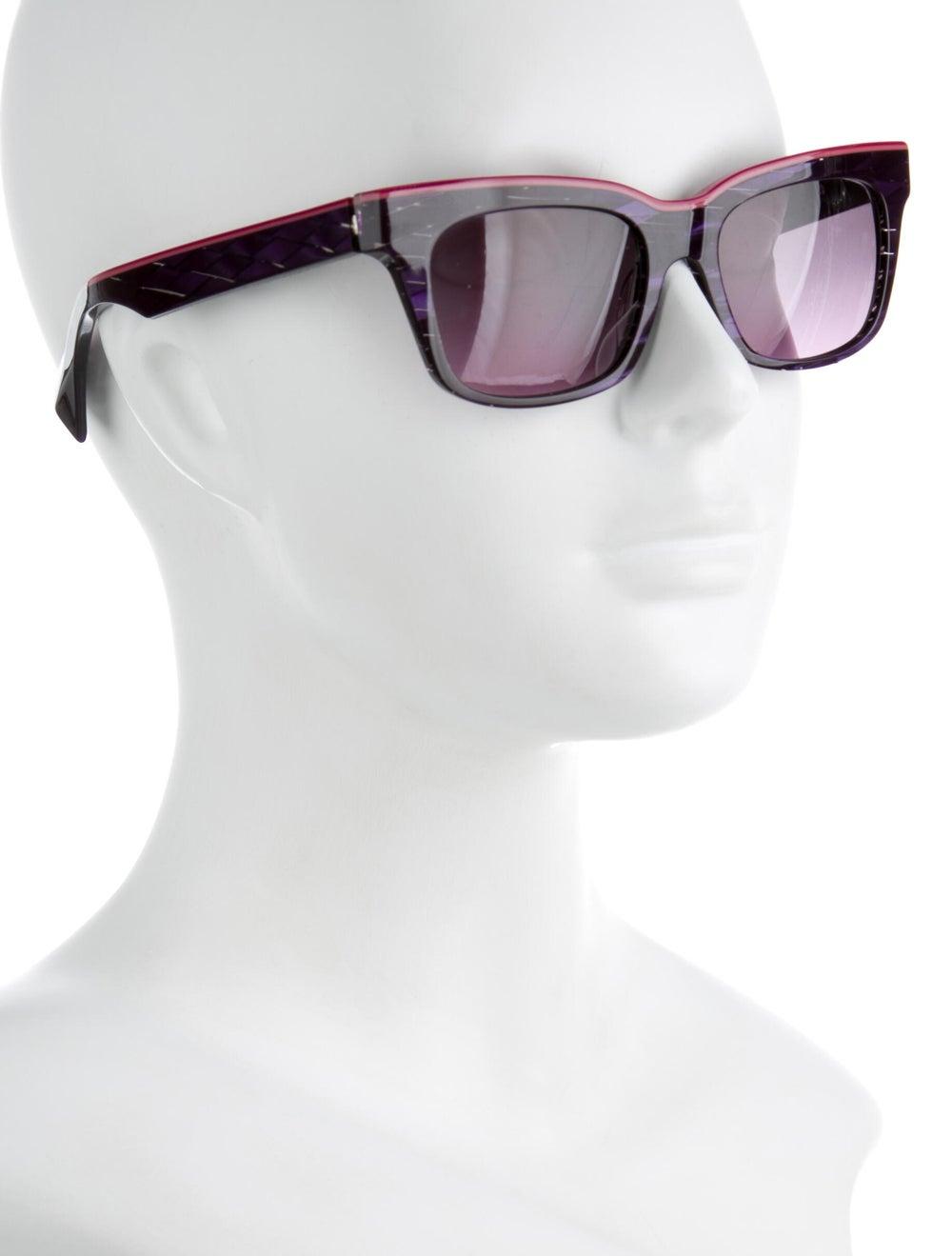 Alain Mikli Square Tinted Sunglasses Purple - image 4