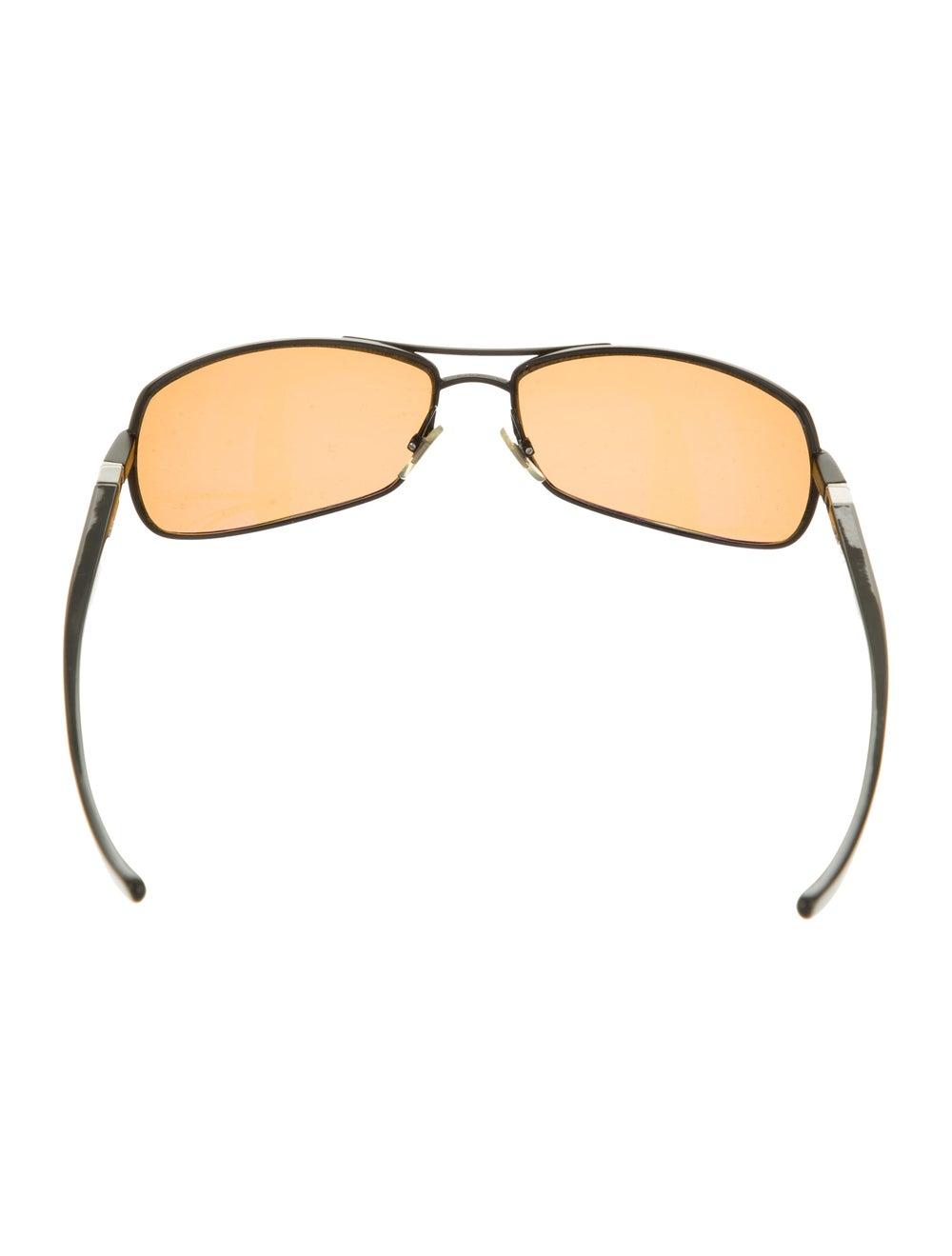 Alain Mikli Square Aviator Sunglasses brown - image 3