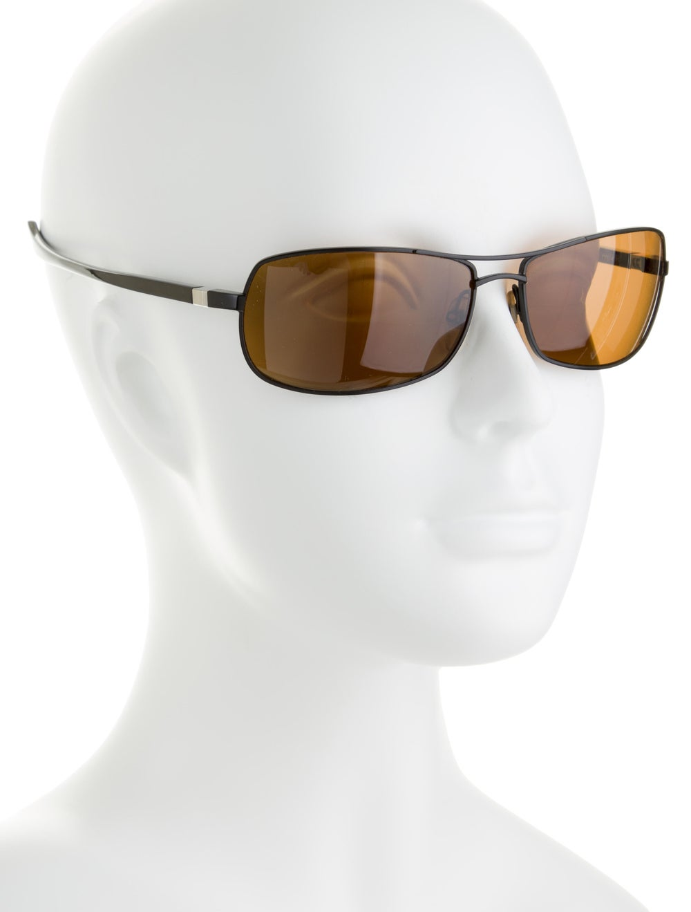 Alain Mikli Square Aviator Sunglasses brown - image 4