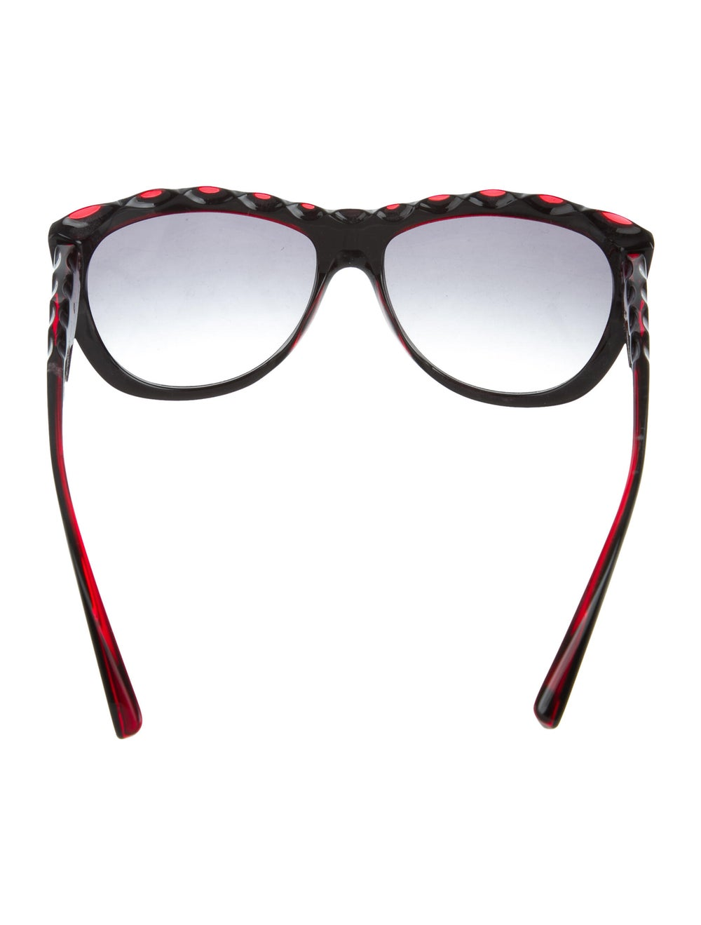 Alain Mikli Gradient Scalloped Sunglasses Red - image 3