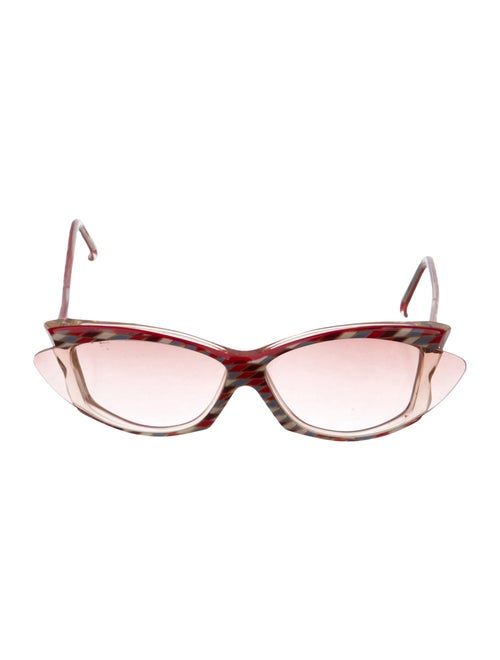 Alain Mikli Oversize Tinted Sunglasses Red - image 1