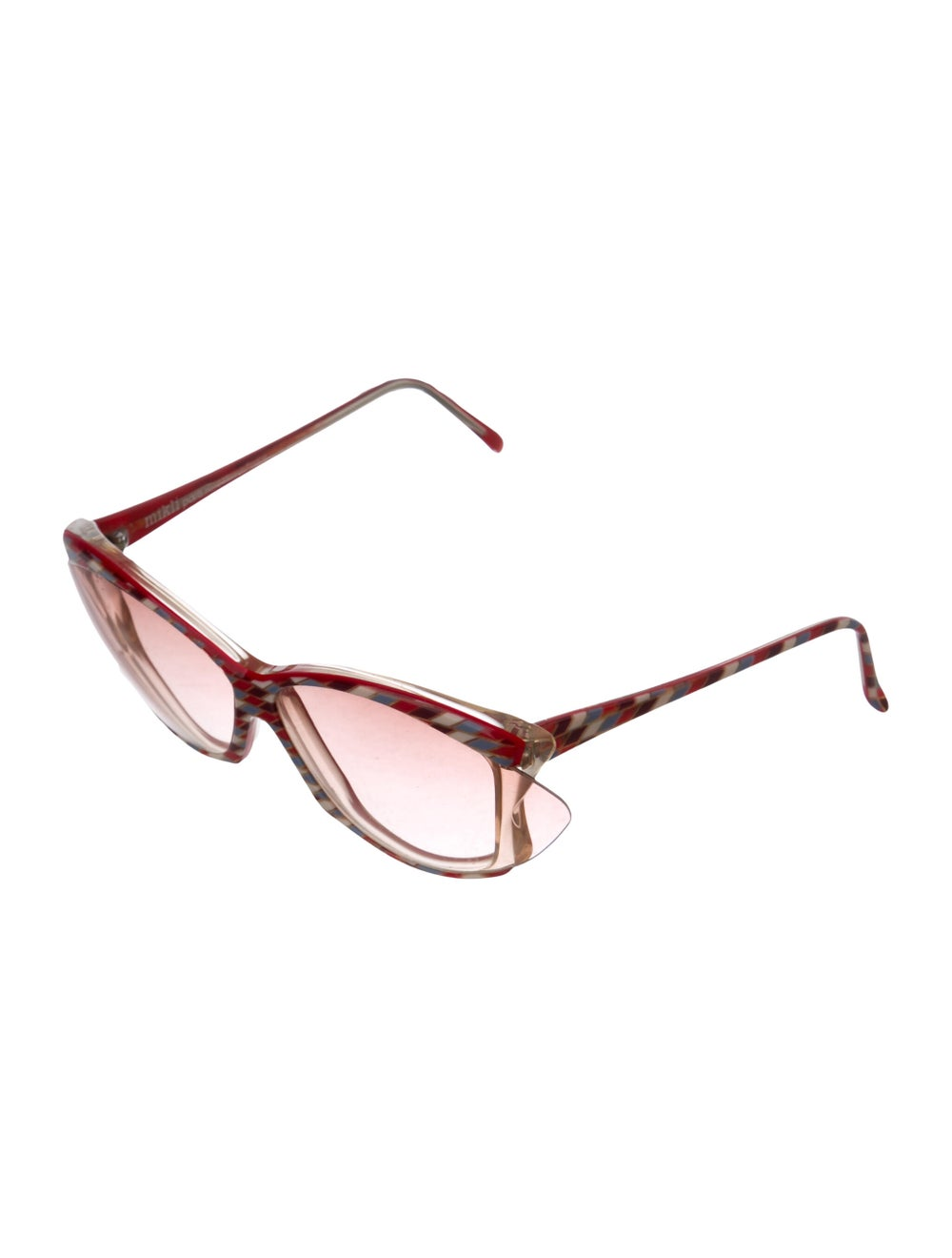 Alain Mikli Oversize Tinted Sunglasses Red - image 2