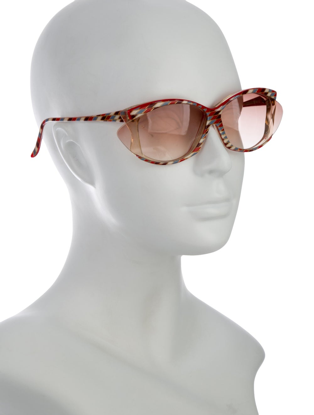 Alain Mikli Oversize Tinted Sunglasses Red - image 4
