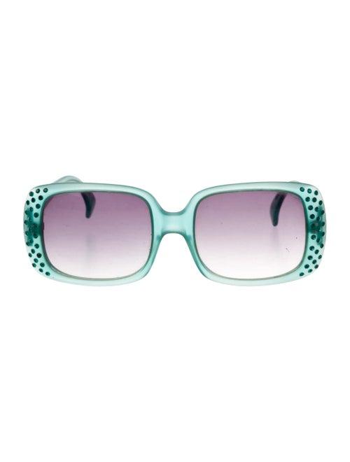 Alain Mikli Oversize Tinted Sunglasses Green - image 1