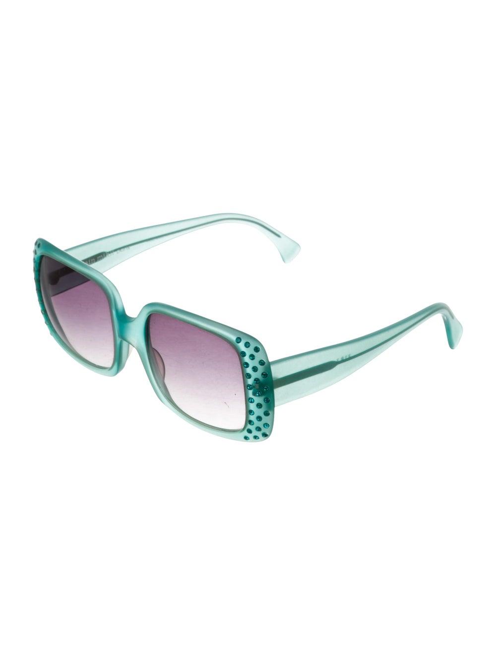 Alain Mikli Oversize Tinted Sunglasses Green - image 2