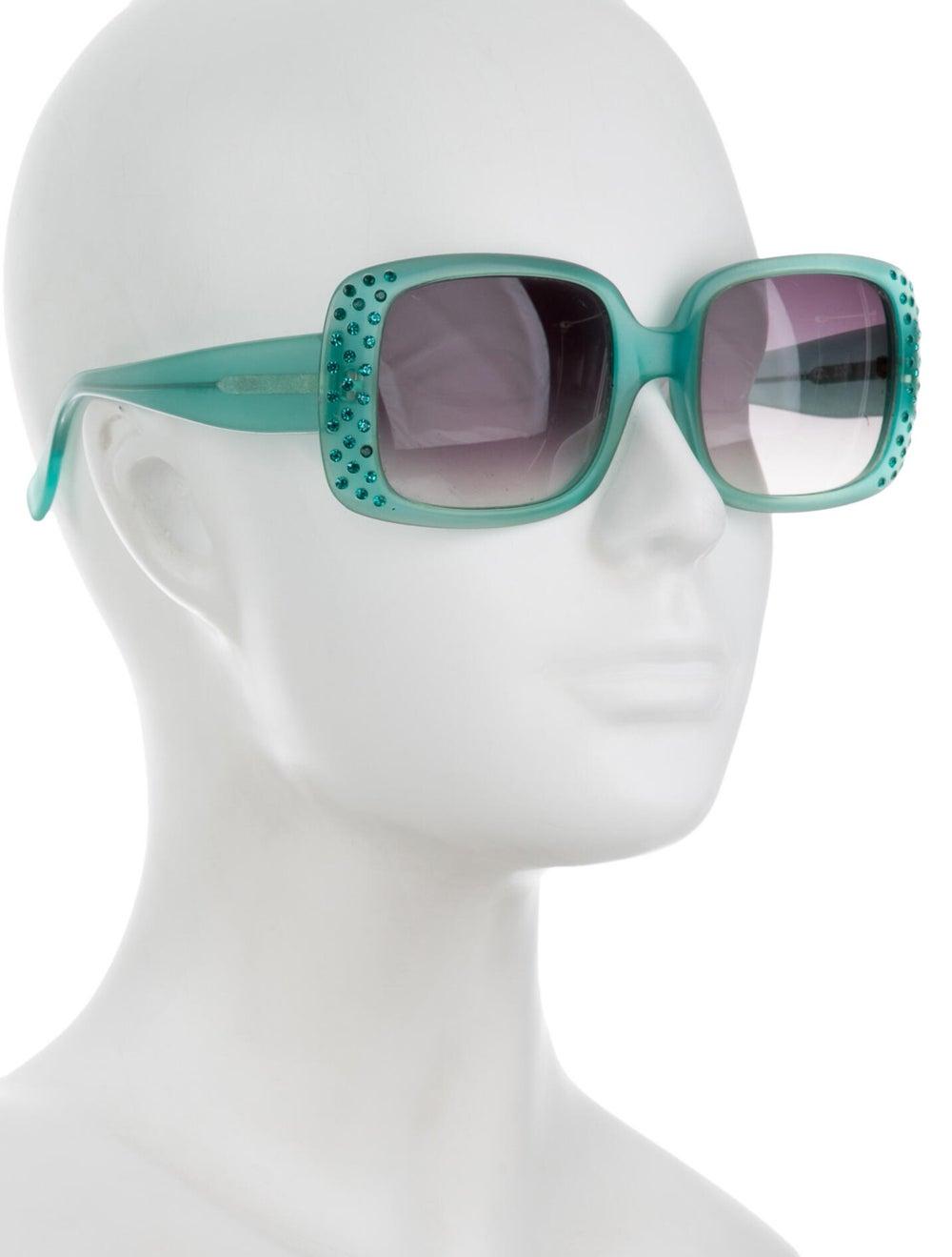 Alain Mikli Oversize Tinted Sunglasses Green - image 4