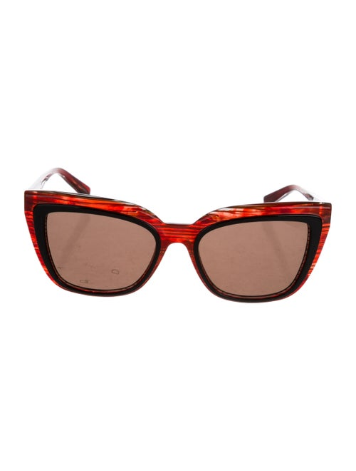 Alain Mikli Square Tinted Sunglasses Red - image 1