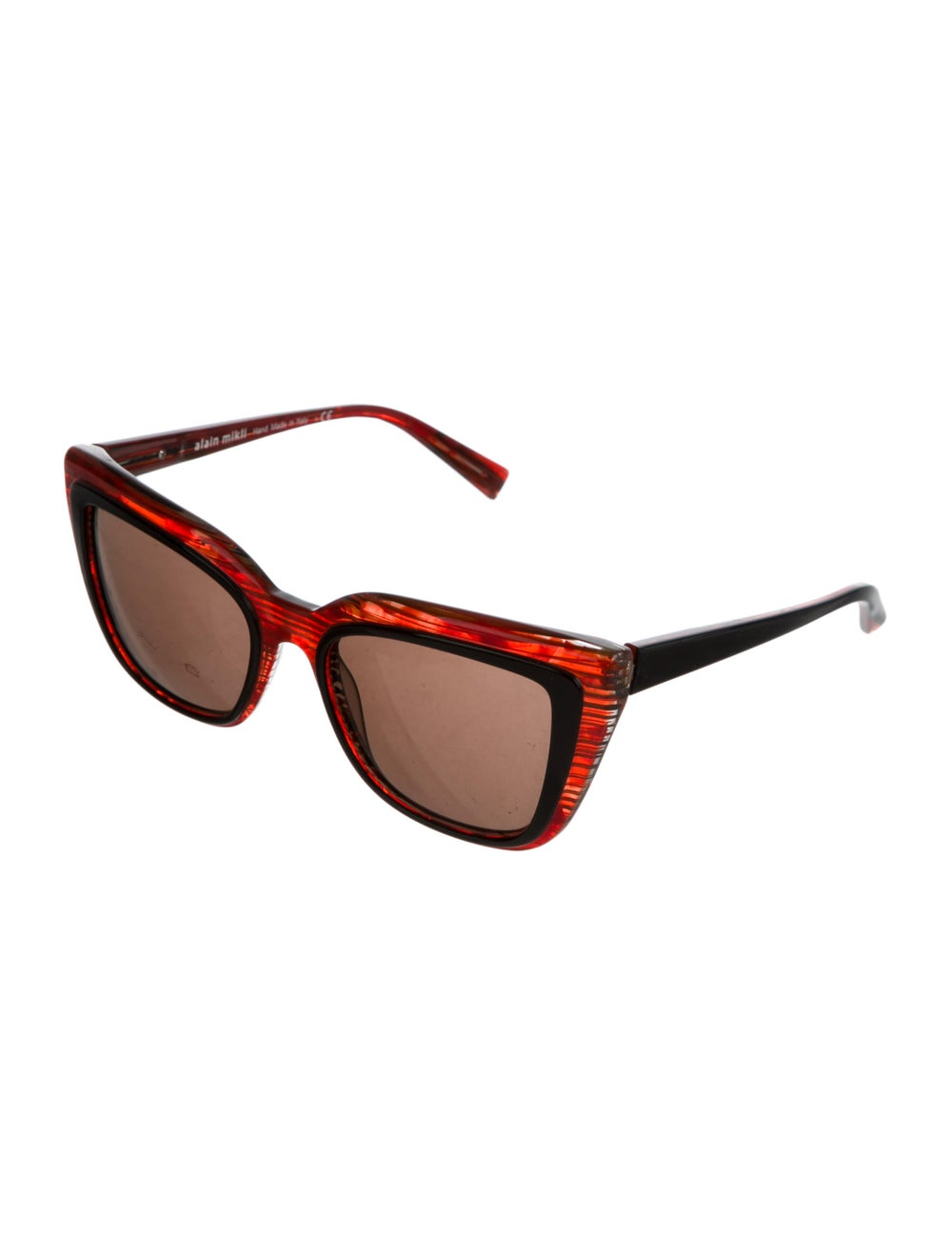 Alain Mikli Square Tinted Sunglasses Red - image 2