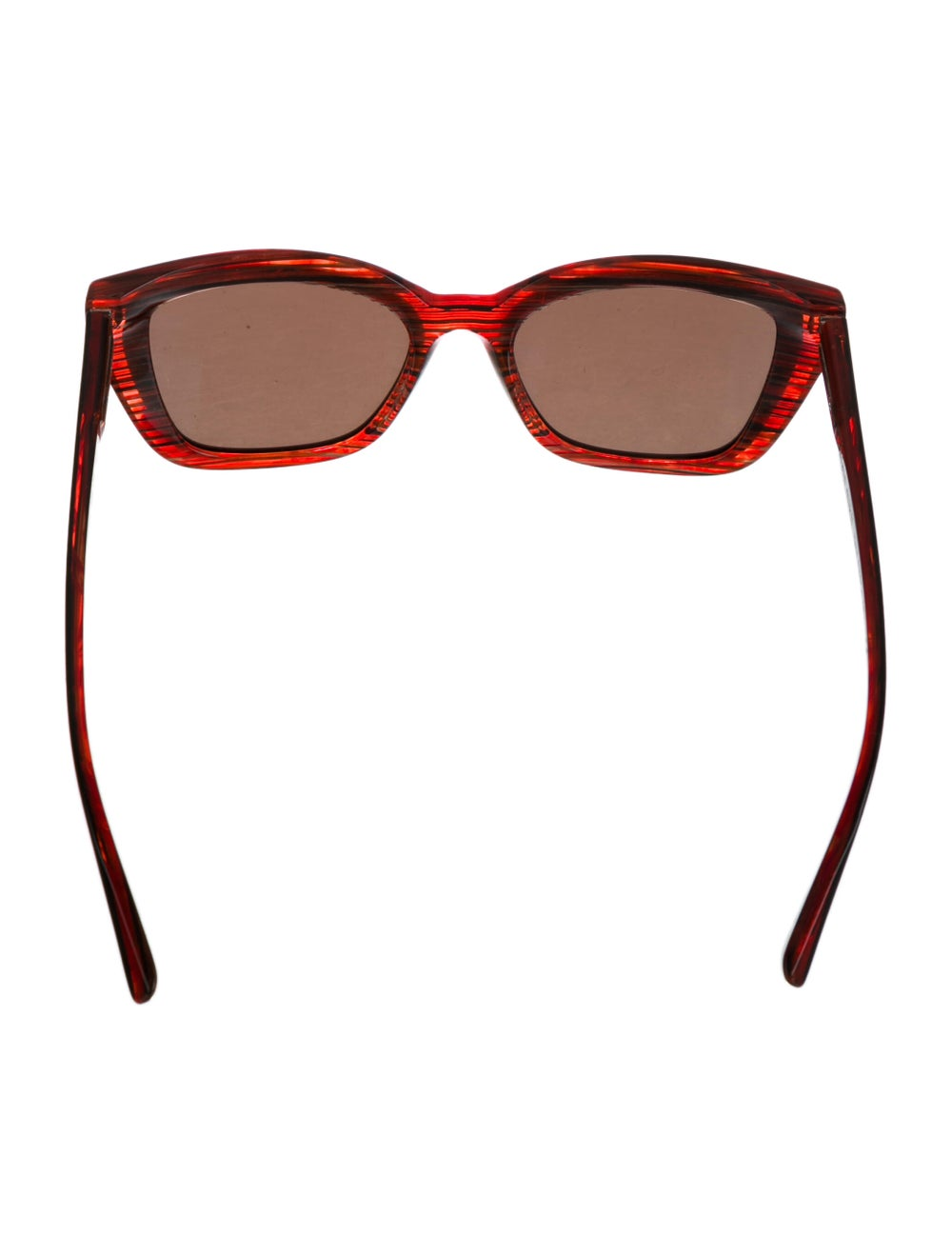 Alain Mikli Square Tinted Sunglasses Red - image 3