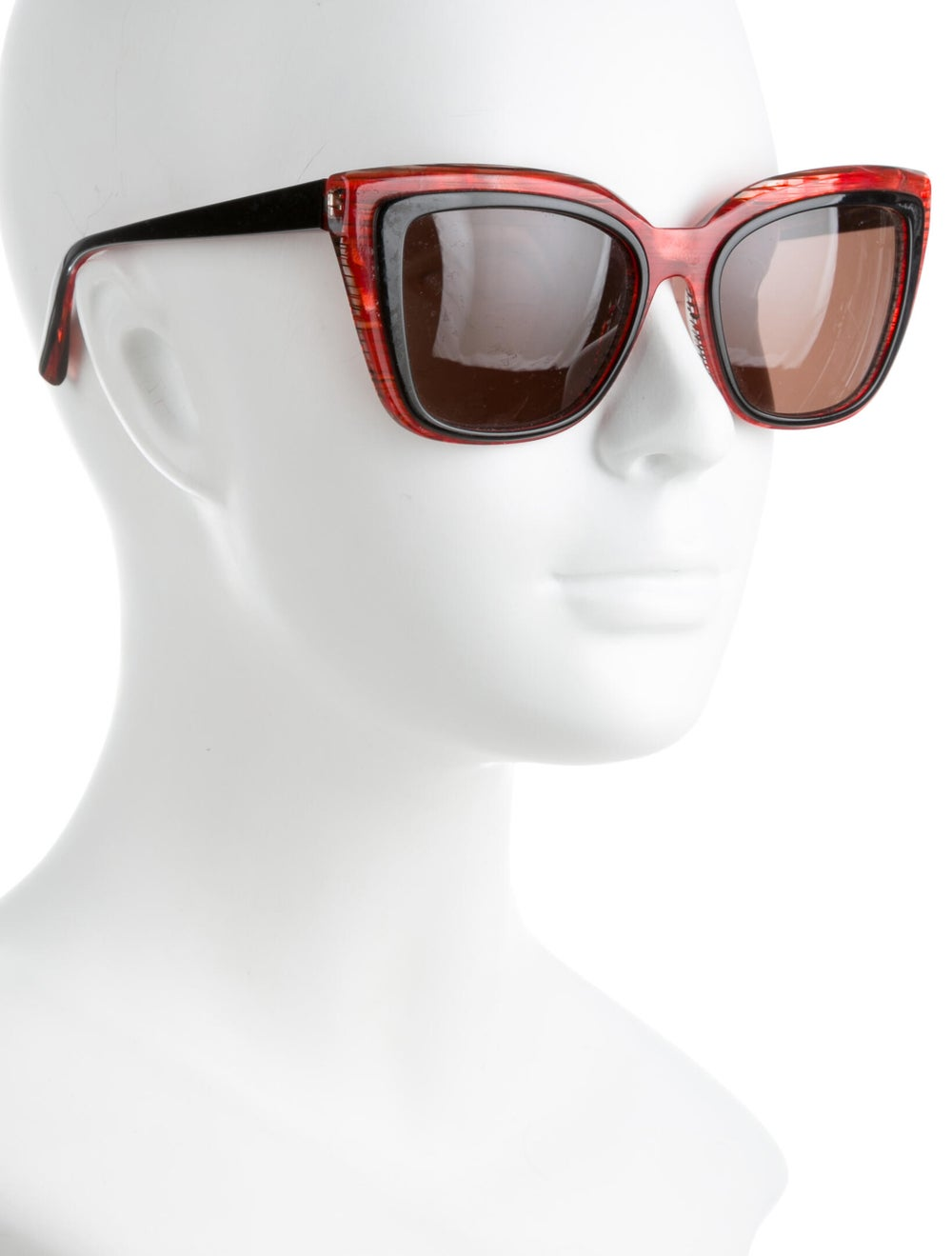 Alain Mikli Square Tinted Sunglasses Red - image 4