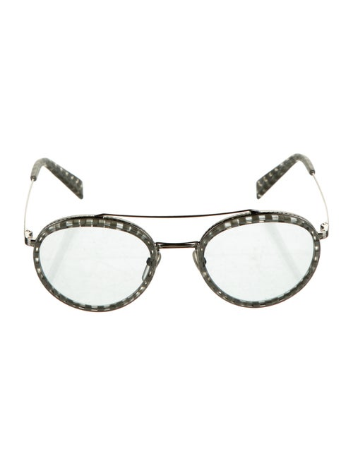 Alain Mikli Tinted Round Sunglasses Silver
