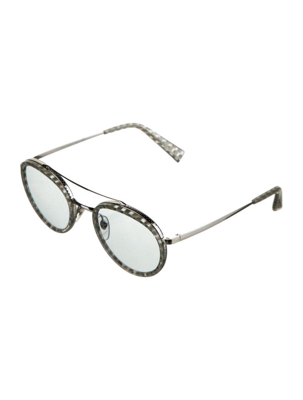 Alain Mikli Tinted Round Sunglasses Silver - image 2