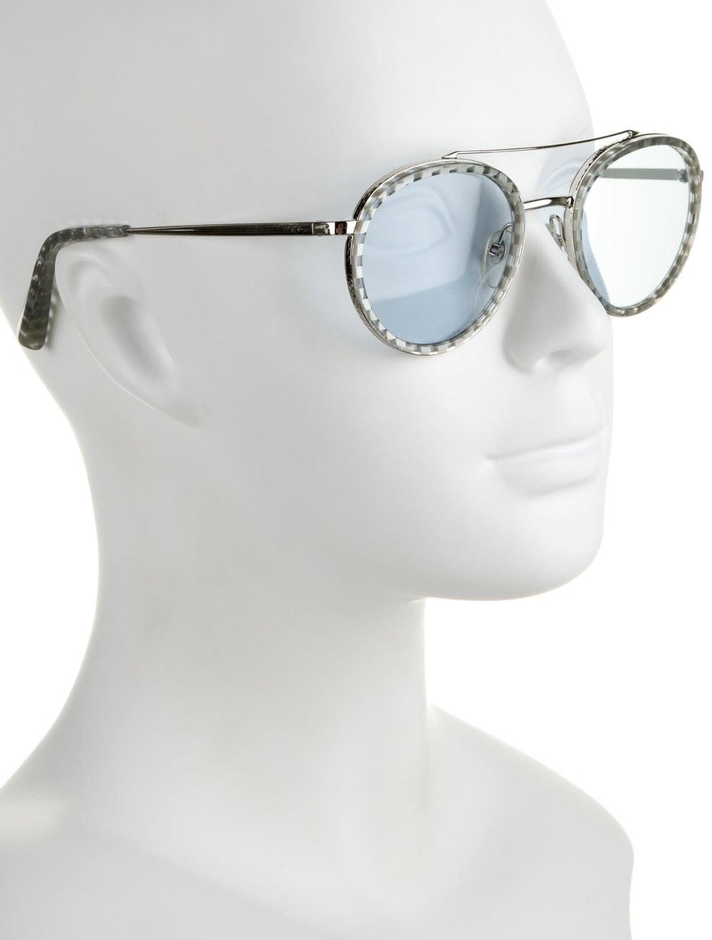 Alain Mikli Tinted Round Sunglasses Silver - image 4