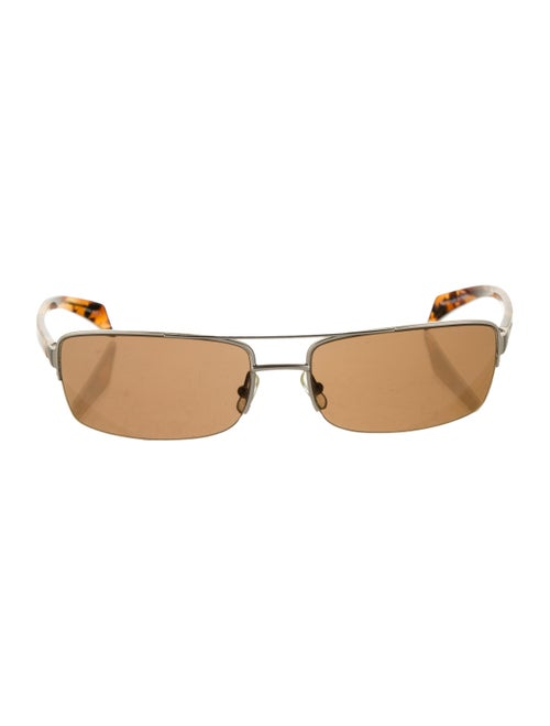 Alain Mikli Tinted Square Sunglasses Silver