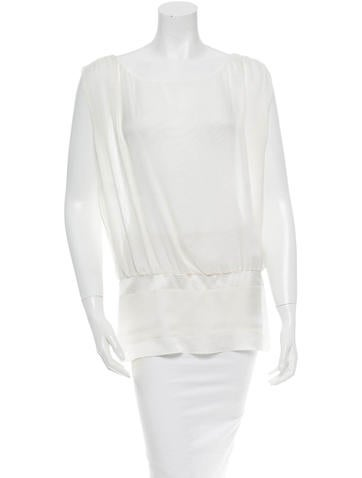 Alberta Ferretti Silk Top None